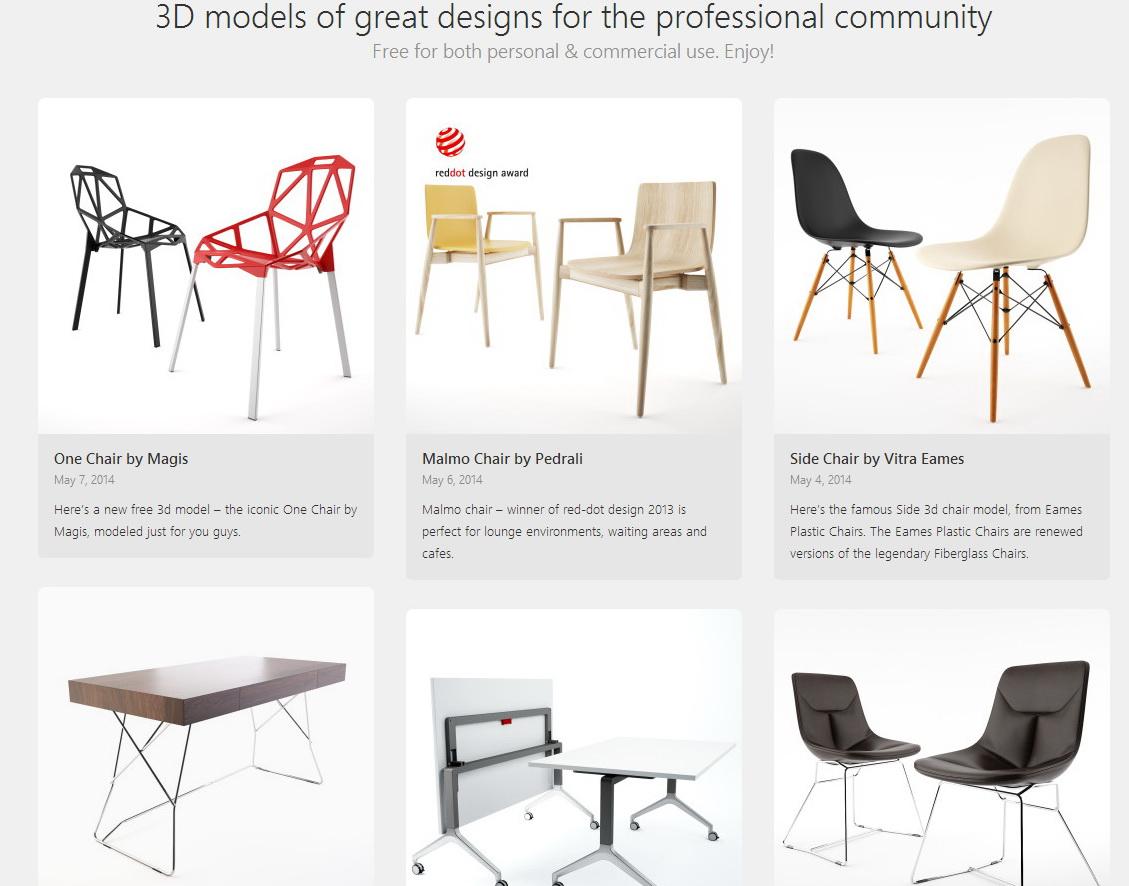 12 modelli 3d gratuiti di arredi imaginaction for Arredi 3ds