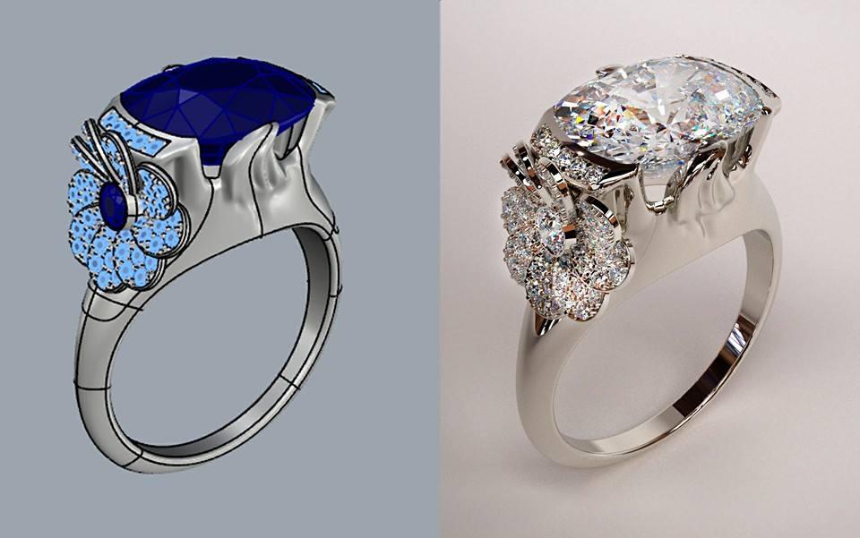 Design di gioielli da rhino a zbrush a maxwell render for Design di gioielli