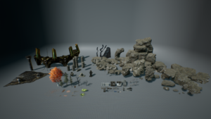 Epic Games Unreal Engine 4, 2 free scene assets for mobile